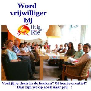 Word vrijwilliger bij Huis van Rie in Nootdorp